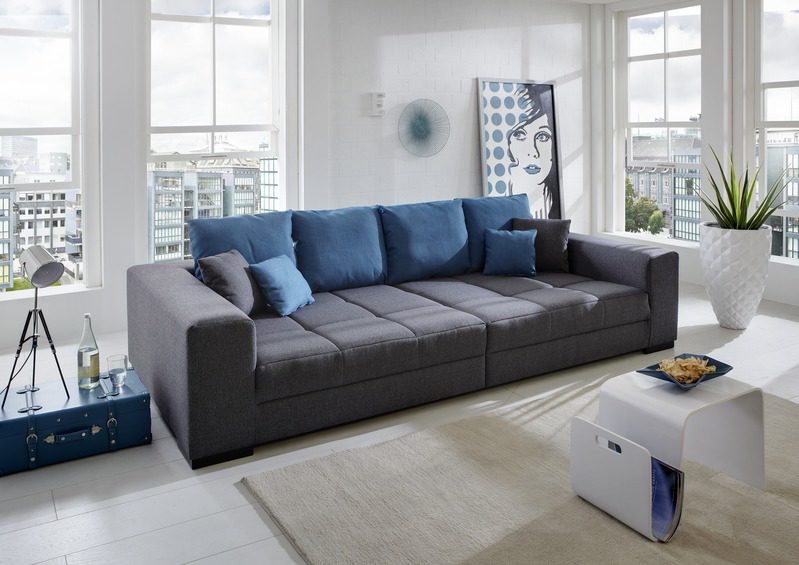 mbel hermes rume wohnzimmer sofas couches big sofa aus kunstfaser big sofa in anthrazit gnstiger in design klassisch junges wohnen - Wohnzimmer Junges Wohnen