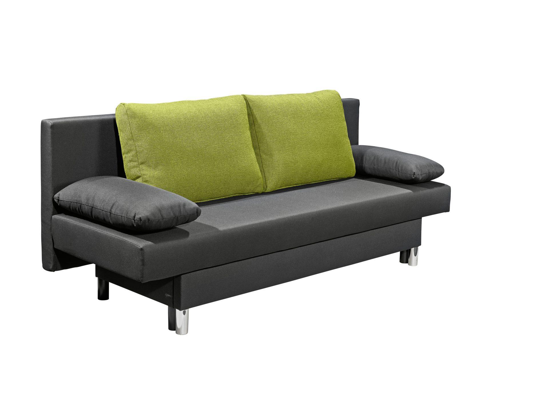 Möbel Hermes , Räume, Wohnzimmer, Sofas + Couches, Schlafsofa, Schlafsofa,  Jeans Schwarz Mit Feingewebe Grün